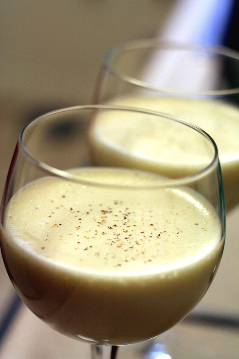 Delicious homemade egg nog