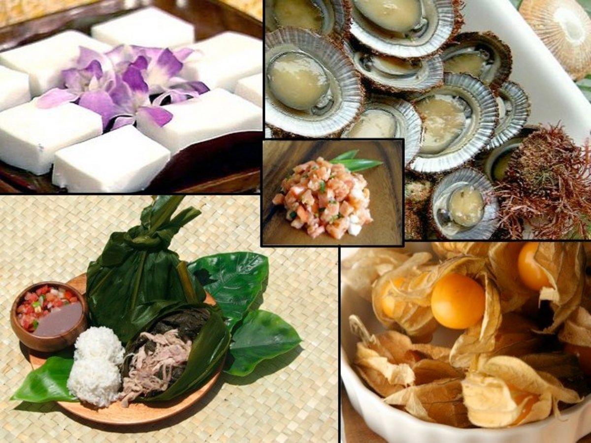 Traditional Hawaiian dishes