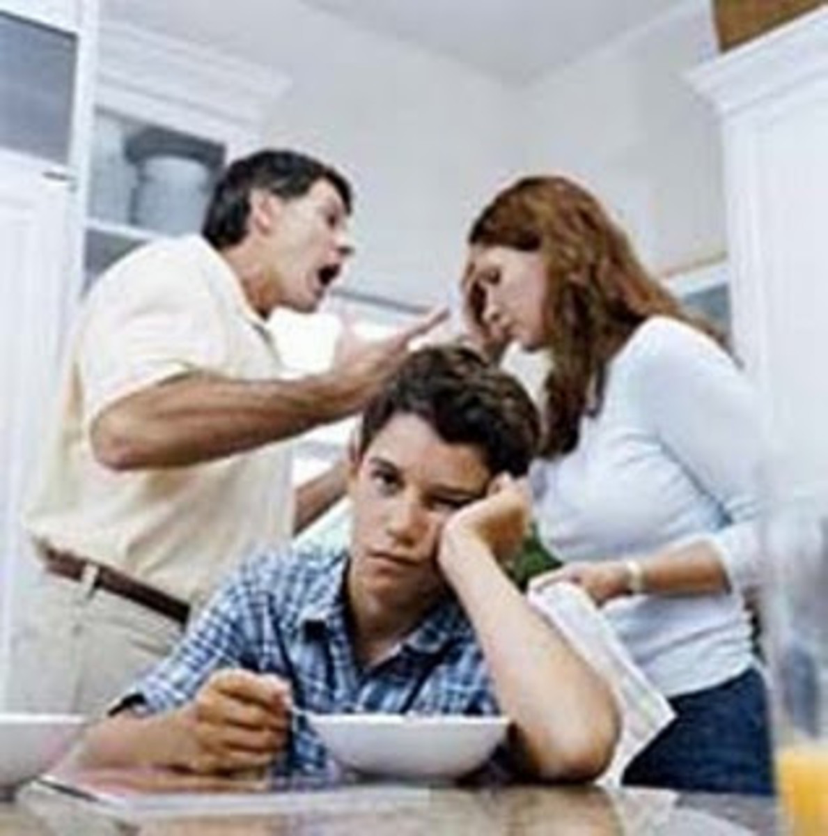 Never fight in front of your children. There are some things they should not see.