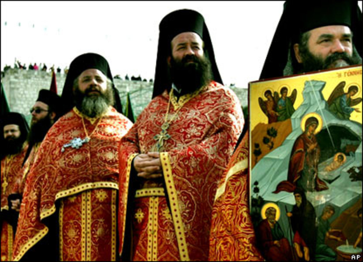 Orthodox Christians celebrate Christmas with unique traditions.