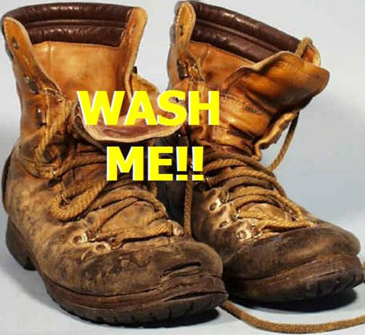 How To Easily Clean Leather Boots  In The Washing Machine or By Hand