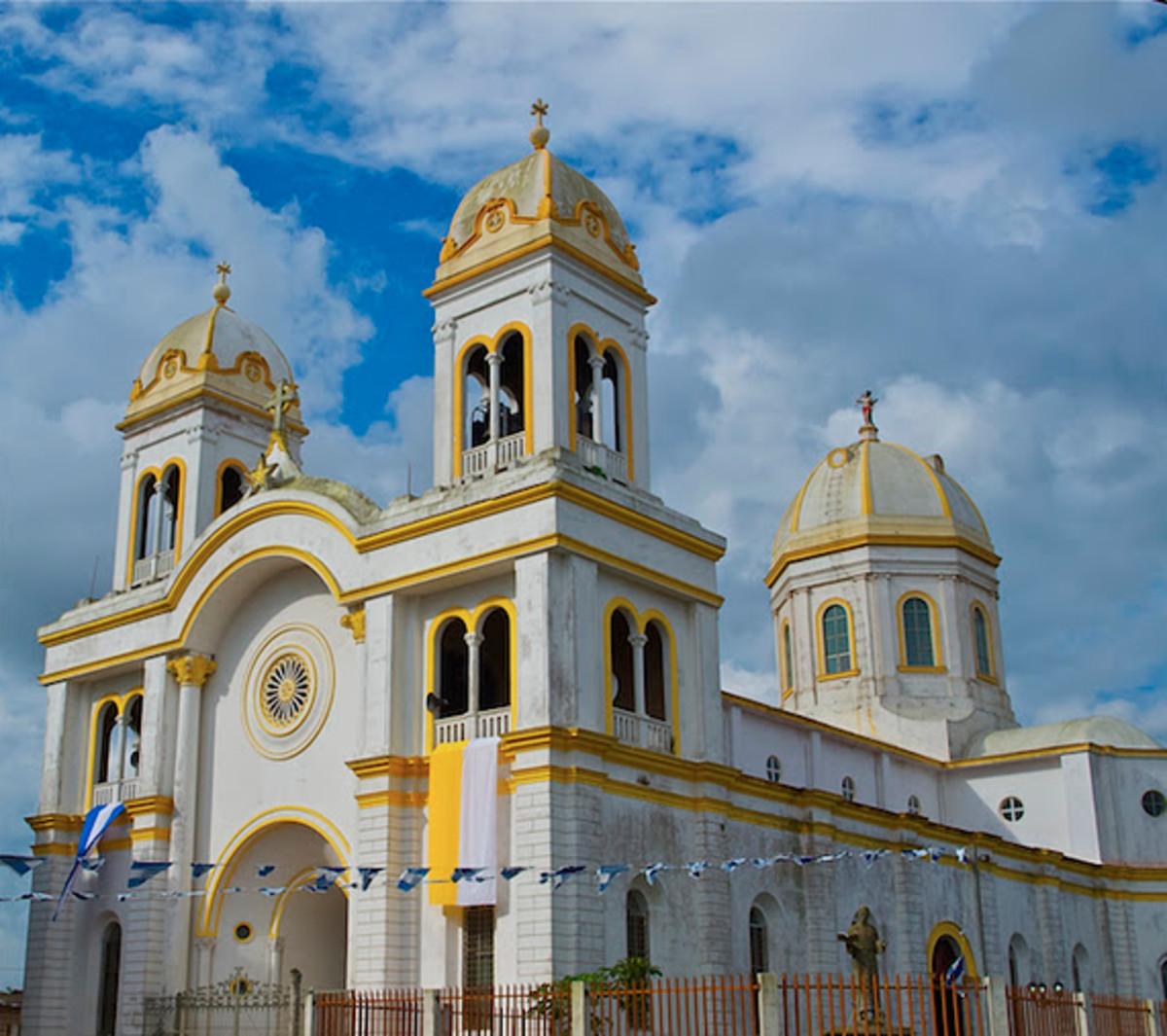 The main church in Diriambga, Nicaragua