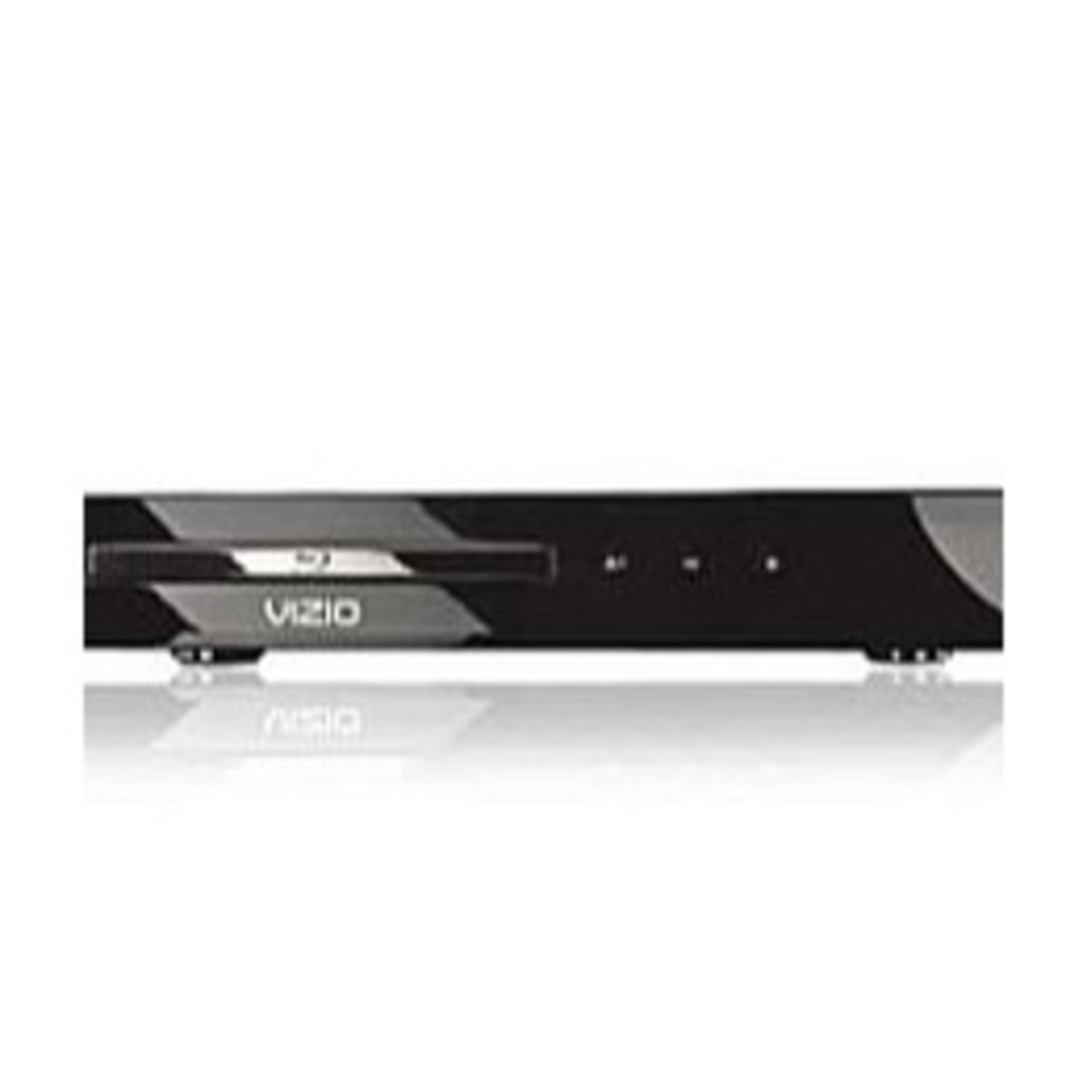 The Vizio VBR122 Blu-ray player supports CD, MP3 and WMA audio playback.