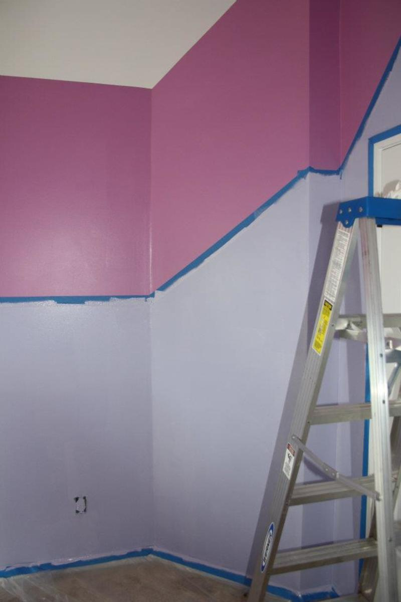 Painting a girls bedroom purple and pink tinkerbell colors - Light purple painted rooms ...