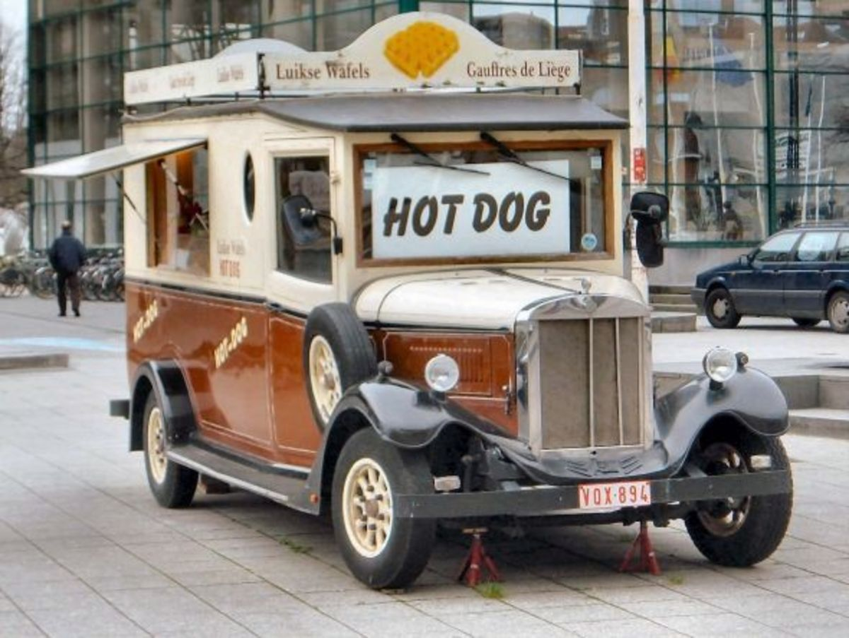 Hot Dog Van in Belgium