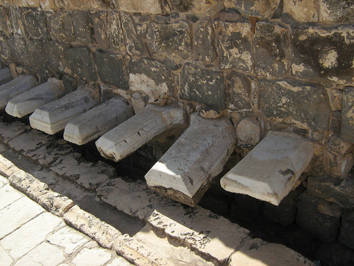 Roman toilets in Bet She'an