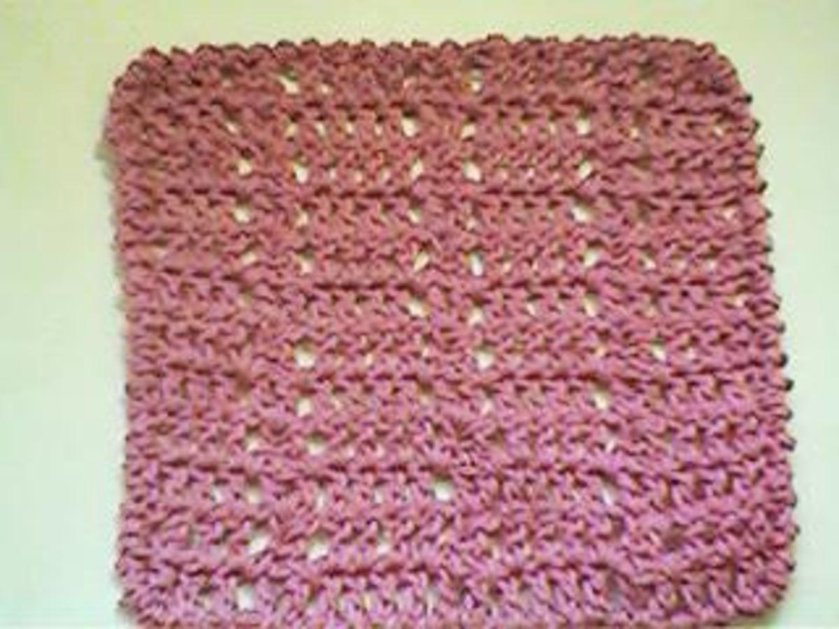 Crochet Diamonds Dishcloth