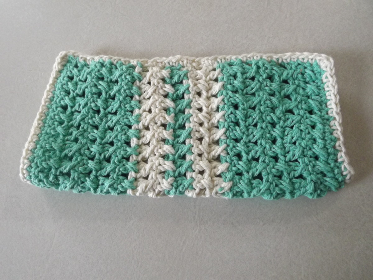 Crochet X-Stitch Dishcloth