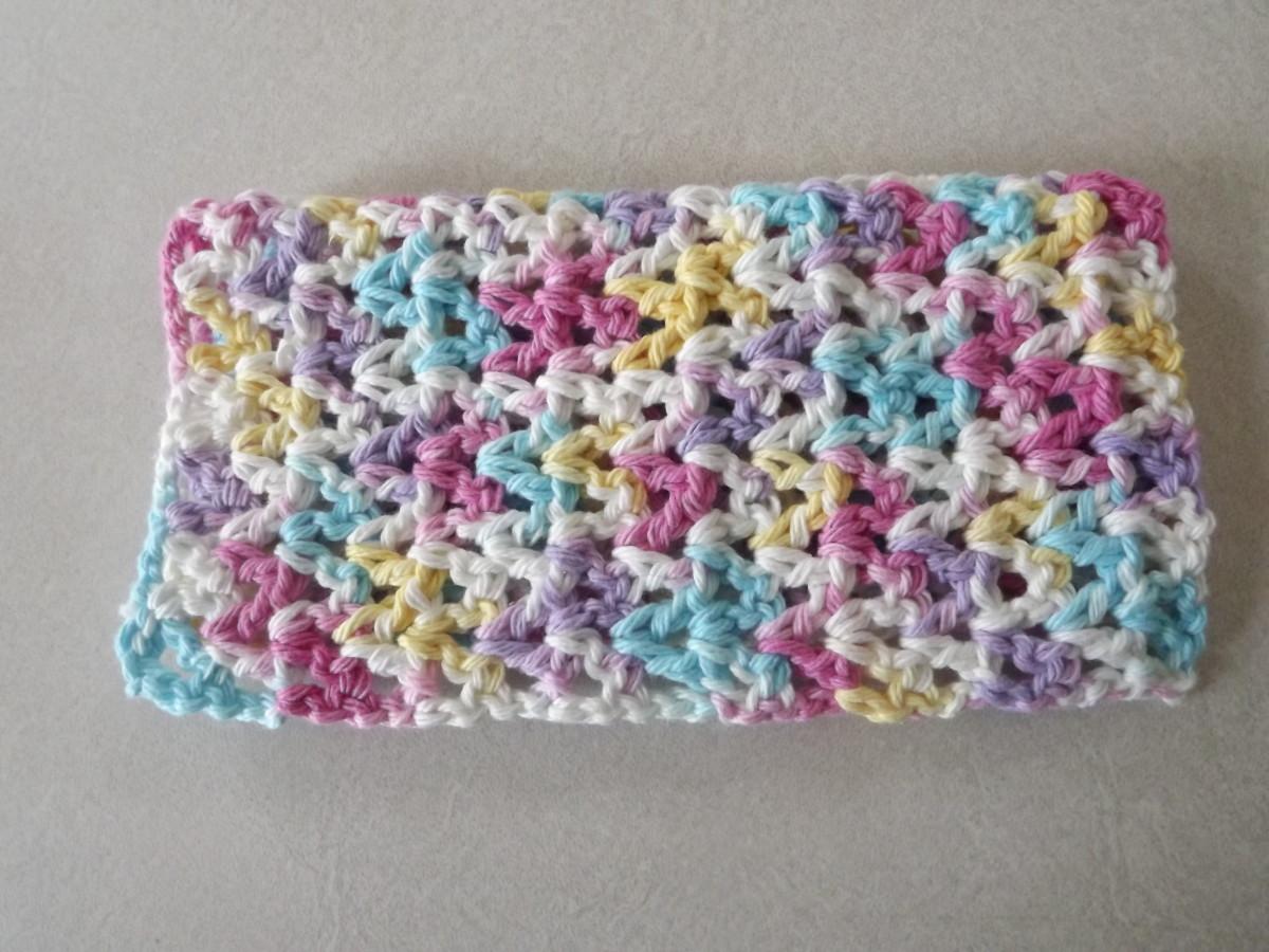 Easy V-Stitch Dishcloth