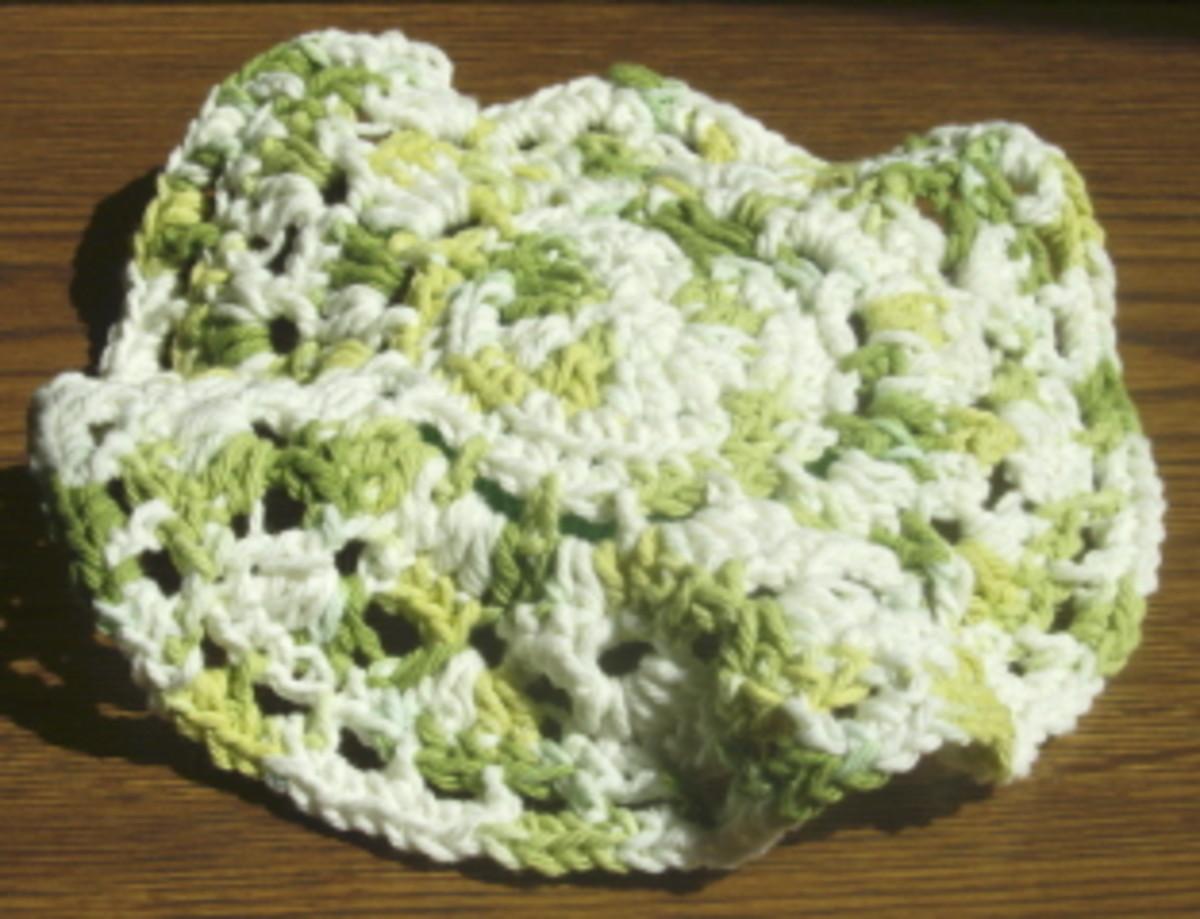 Crochet Floppy Scrubbie