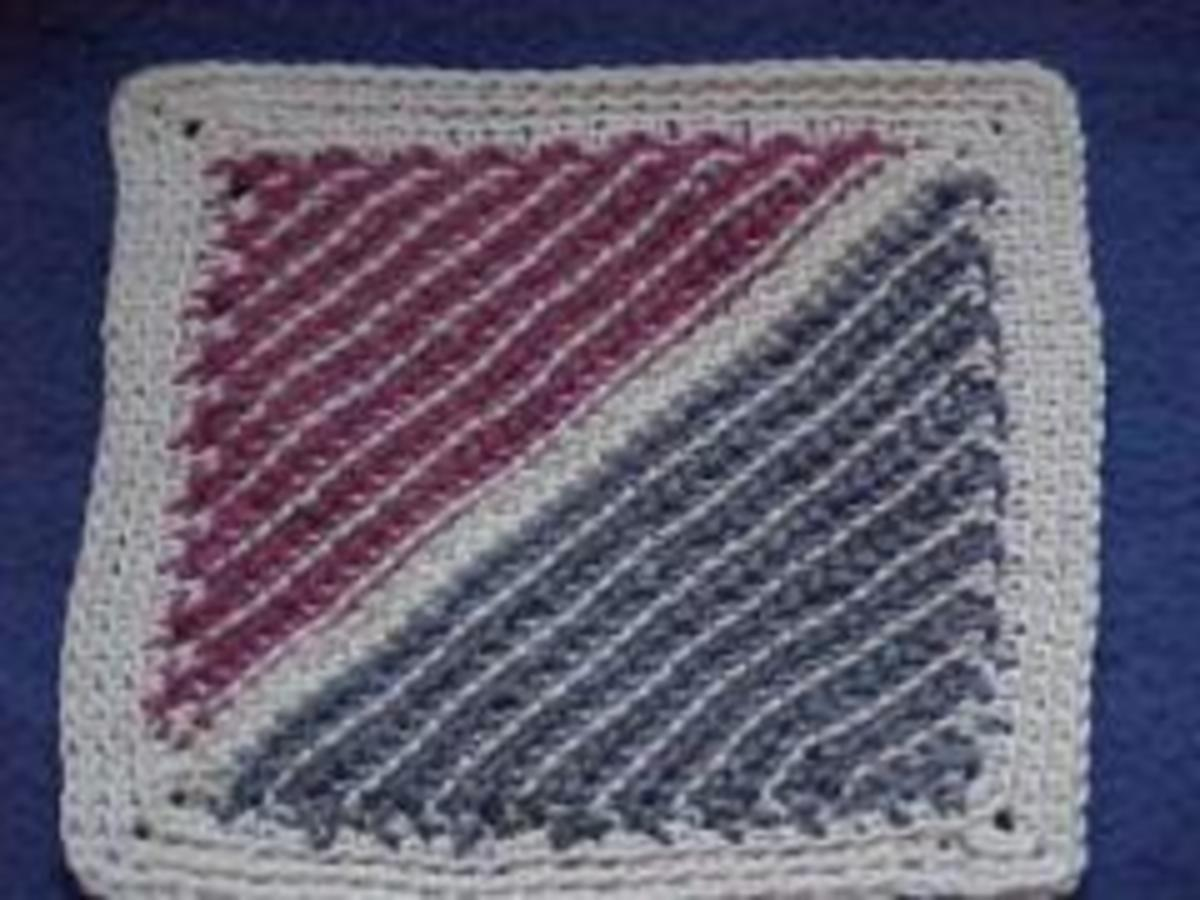 Crochet Diagonal Dishcloth