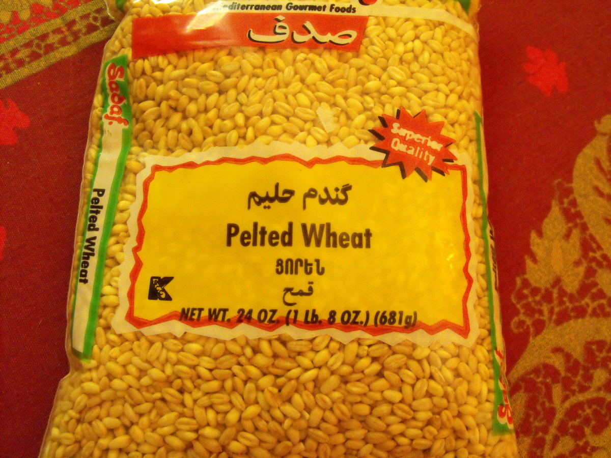 Pelted Wheat is wheat with the hulls removed.