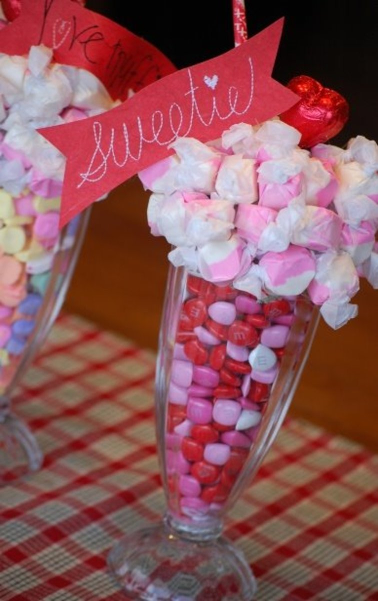 Valentine's Day Candy Centerpiece/Gift