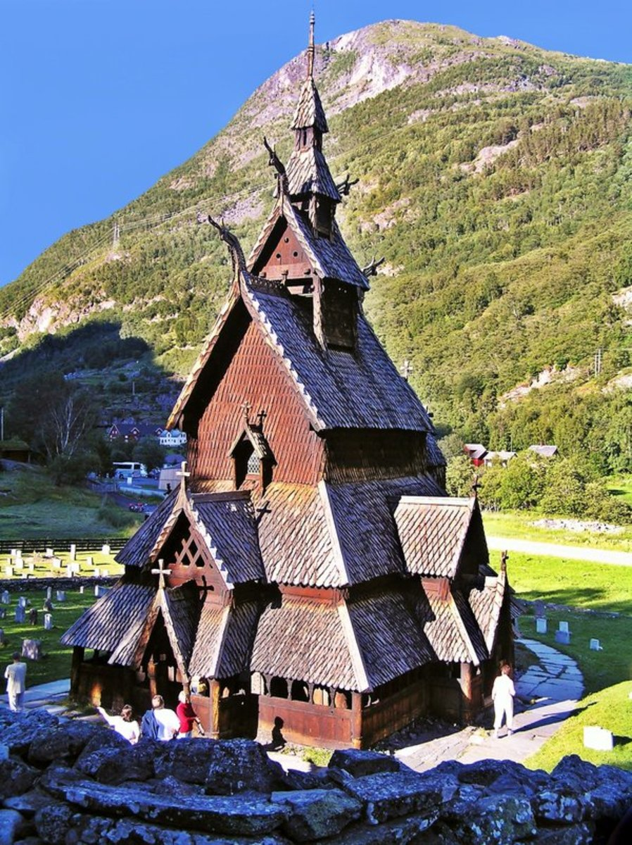 Borgund Stave Church in Western Norway