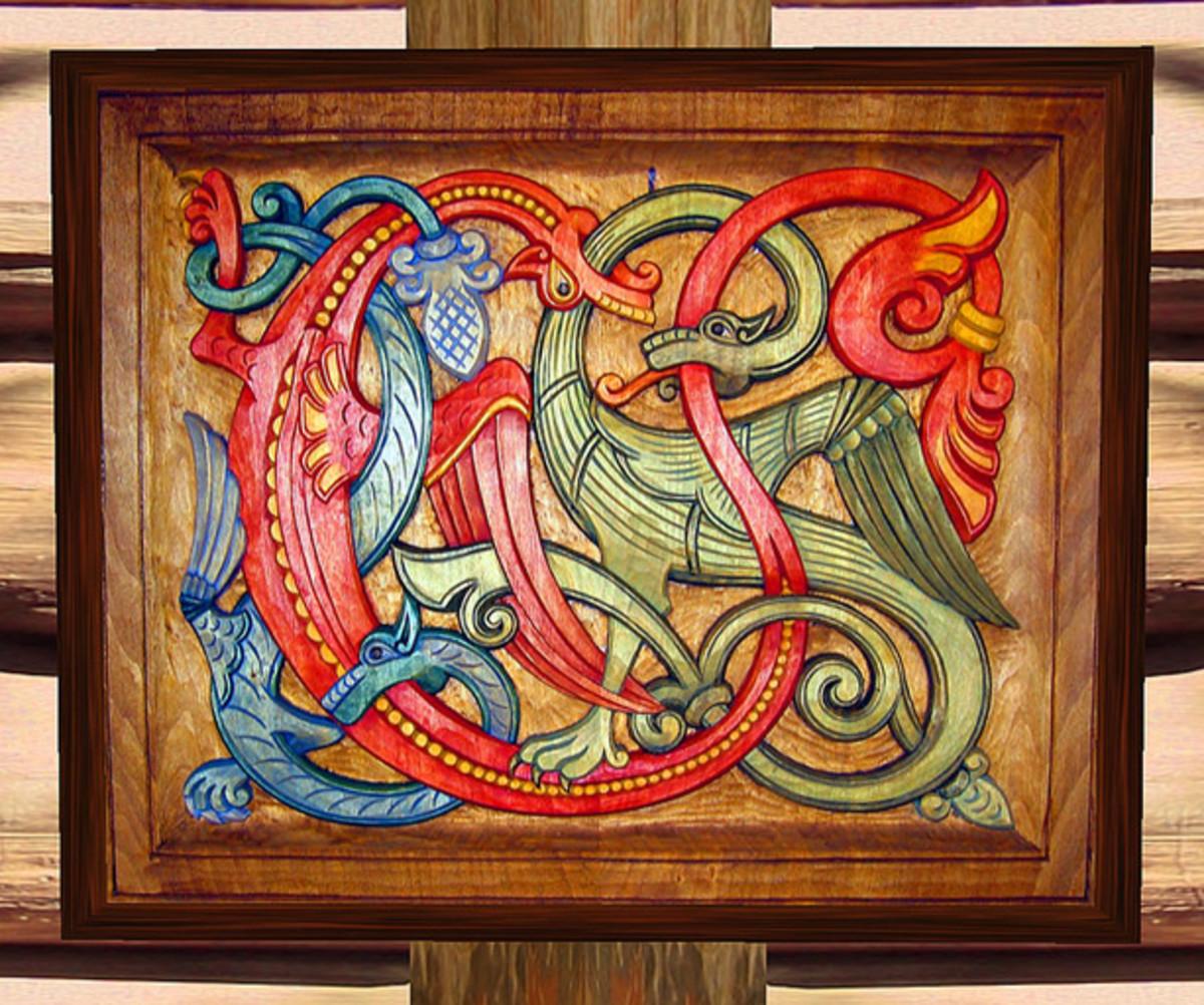 Viking Dragon And Serpent Designs