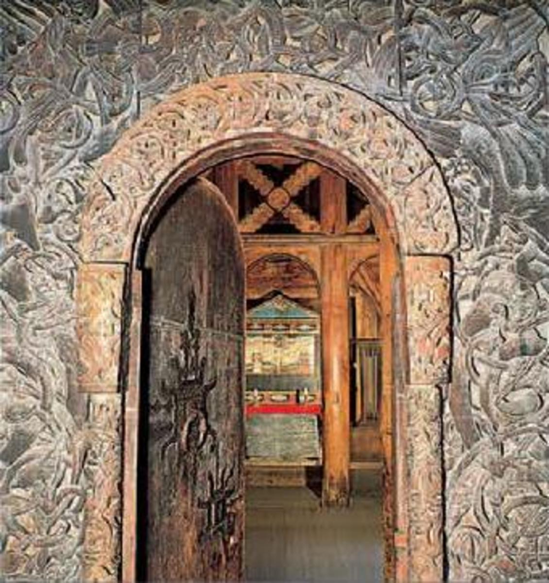 Borgund Stavkirke, West Door