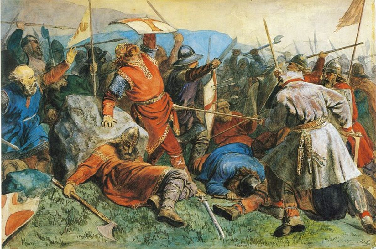 Olav Haraldsson's death in battle.