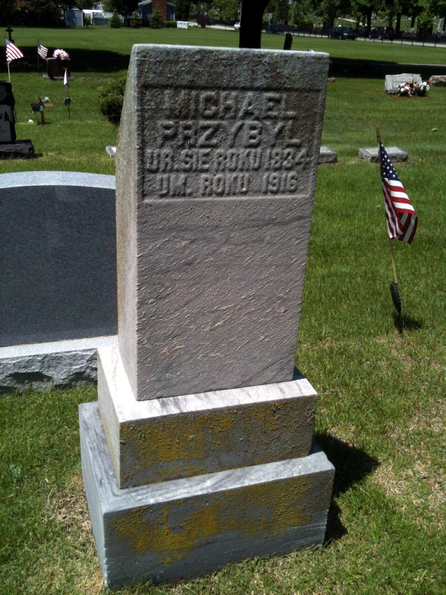 Close-up of Michael & Margaretha's grave