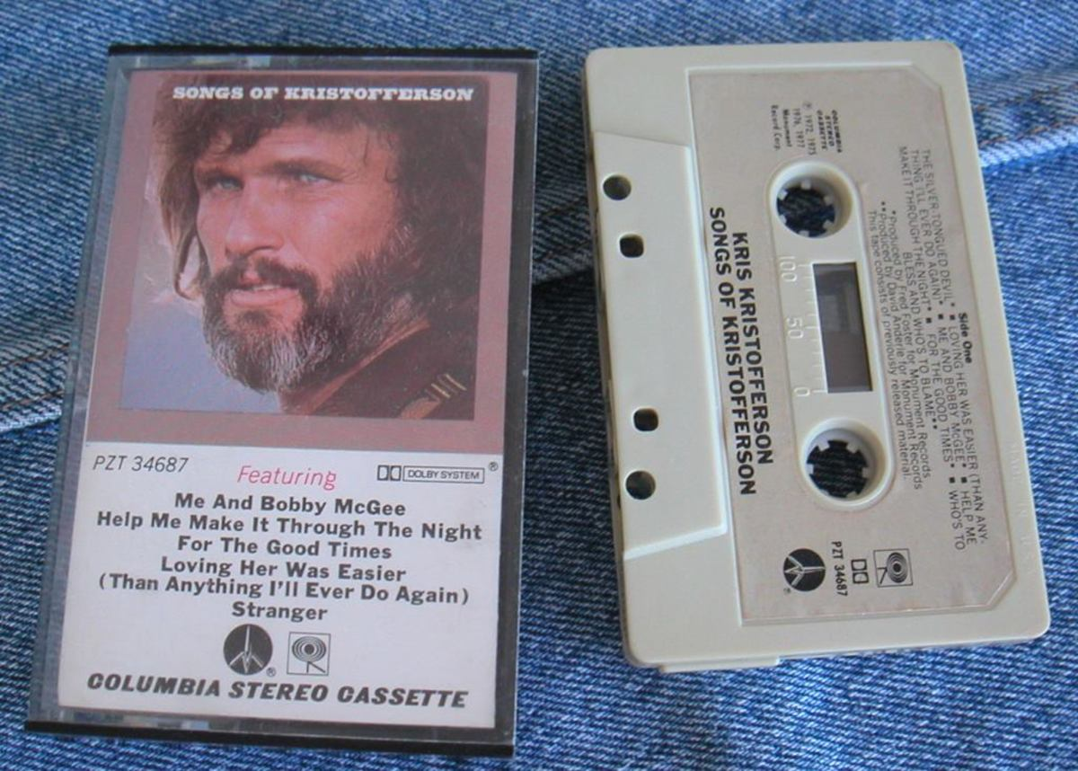 Kris Kristofferson on Cassette from years ago