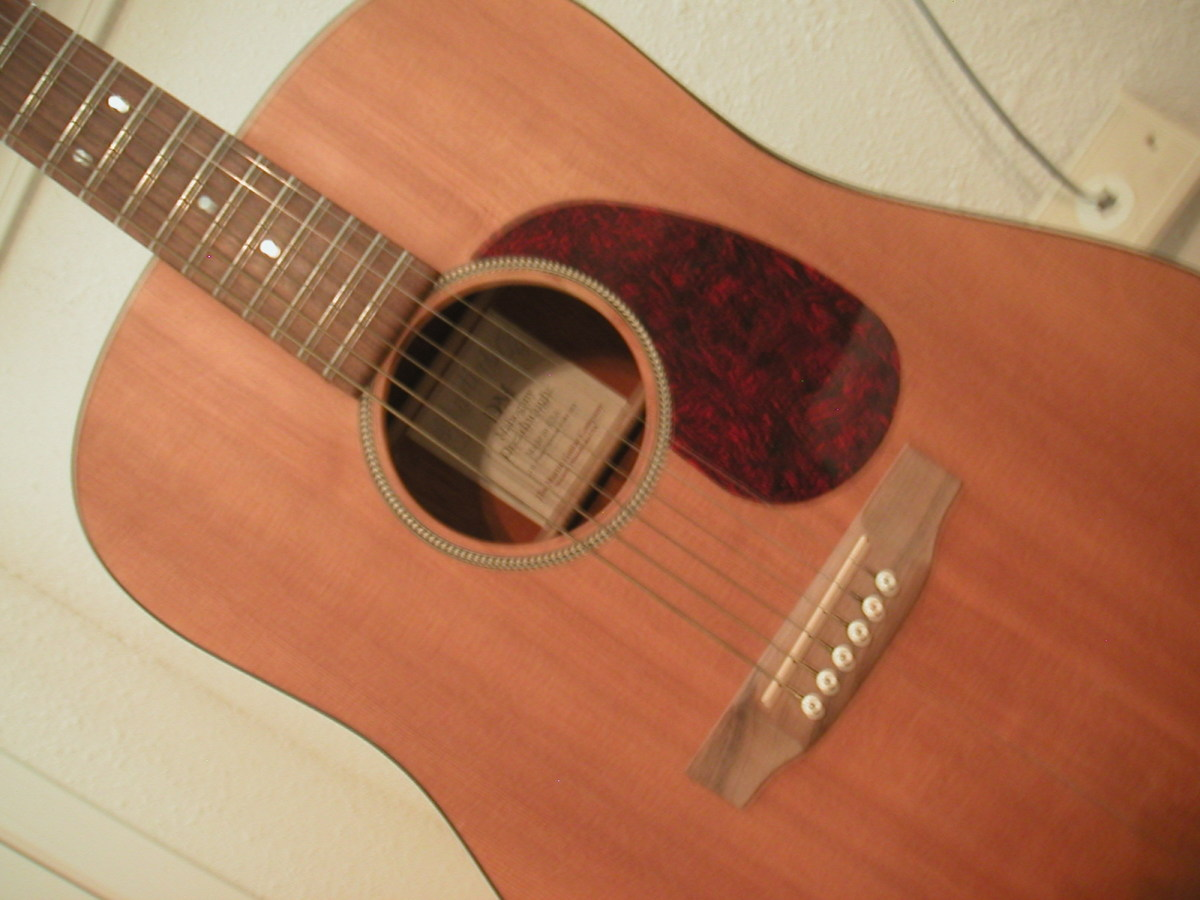Martin Dreadnought guitar purchased at a pawn shop.