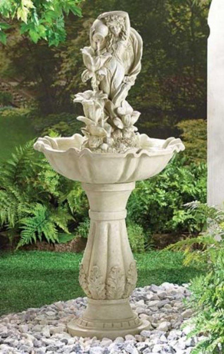 Fairy Maiden Water Fountain (fiberglass)