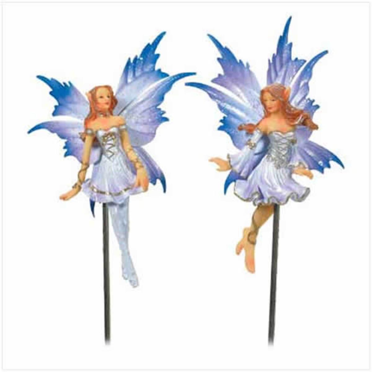 garden fairies on stakes