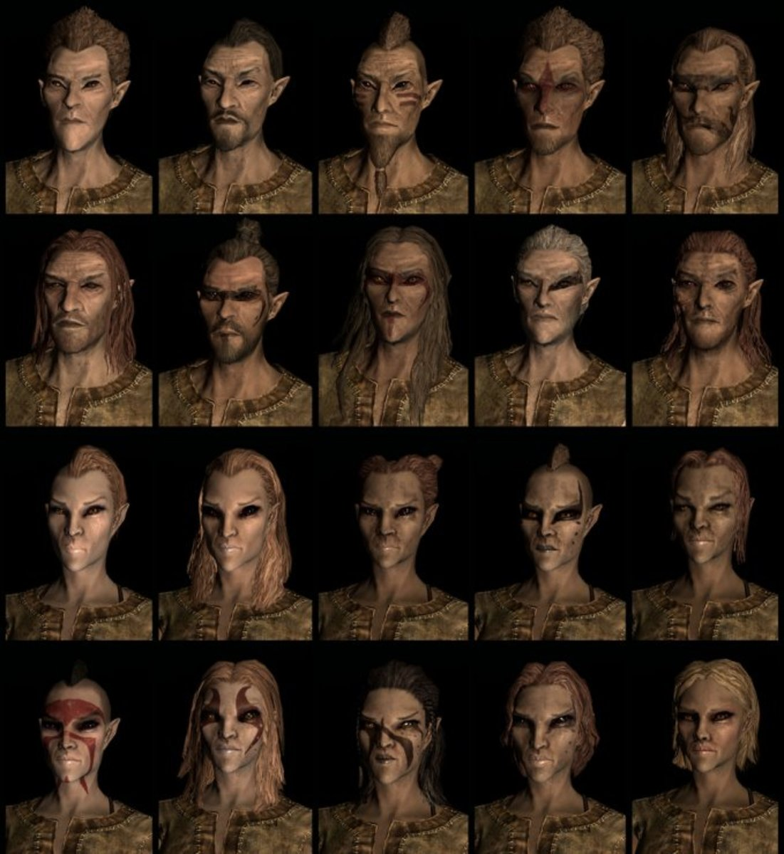 Bosmer Race In Skyrim. Click to view full size.