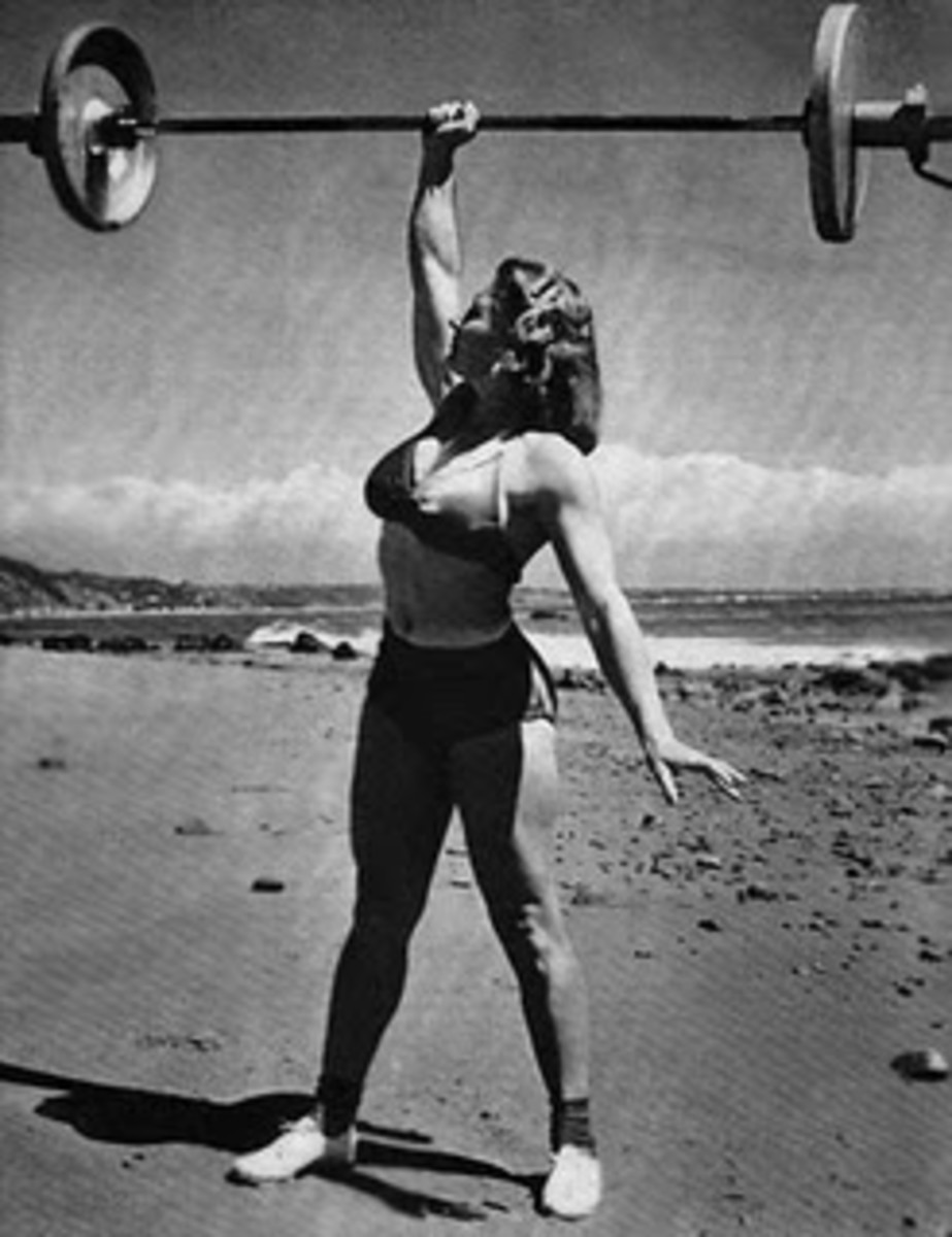 Abbye Stockton (1917-2006), professional strongwoman who trained Marilyn Monroe. Could lift more weight than most men. More info needs to be uncovered about Stockton, though.