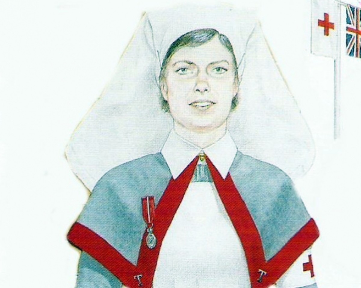 From poster depicting Queen Alexandra's Imperial Military Nursing Service (QAIMNS) nNurses