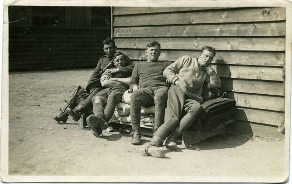 Wounded soldiers near Herne bay or Canterbury