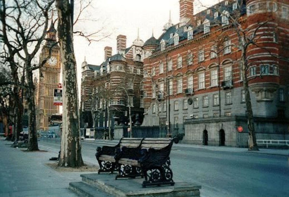 Scotland Yard, Victorian Building near Big Ben - 1890