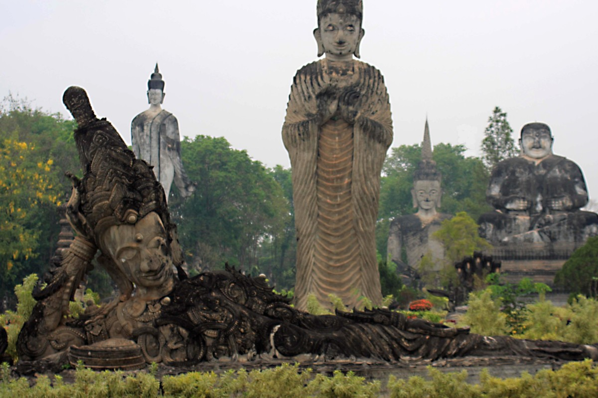 A multitude of statues in the Sanctury Park