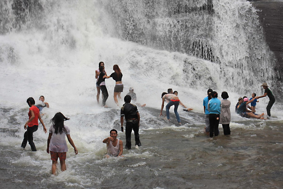 The waterfall is a favourite local attraction