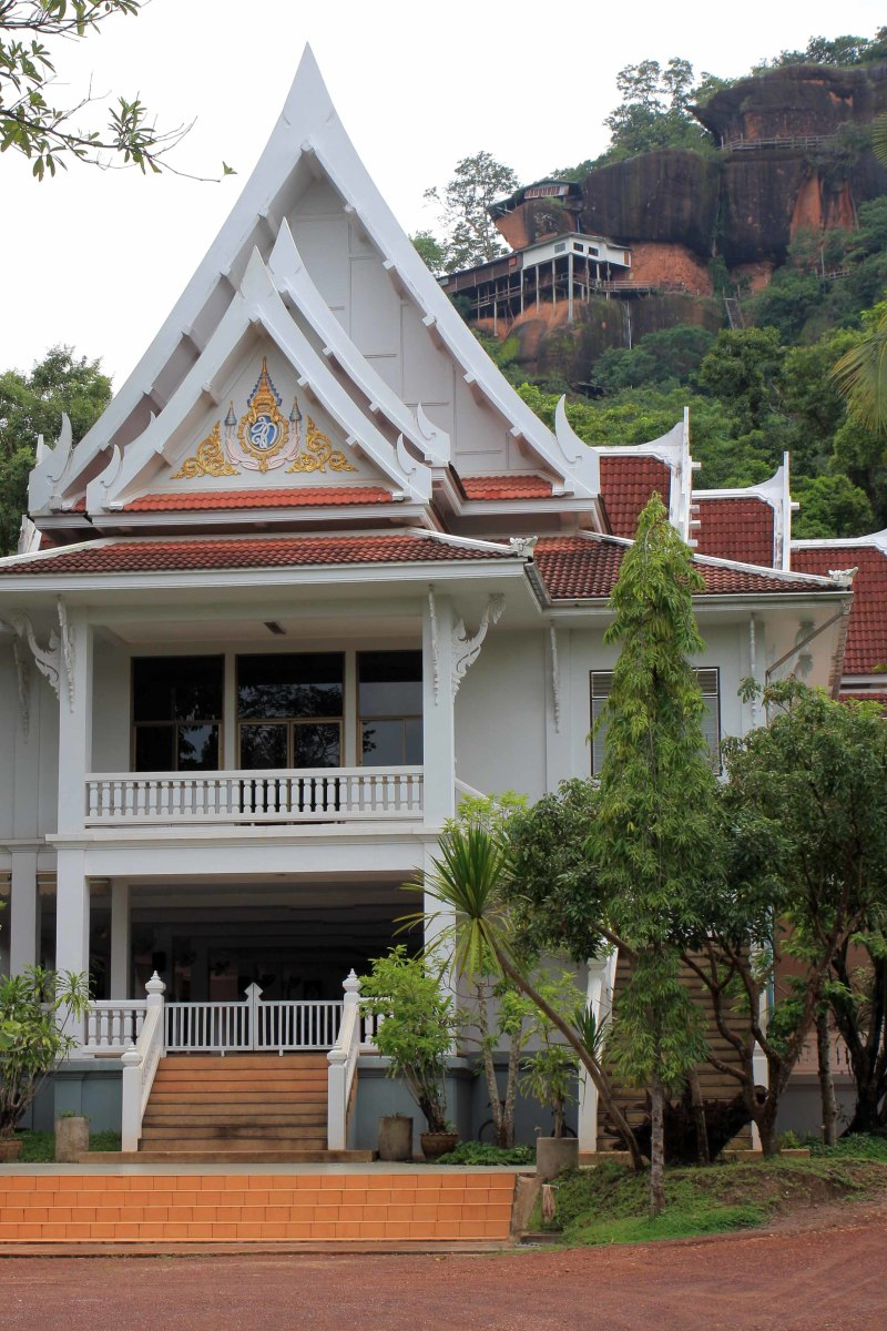 Part of the Phu Thok temple complex which is home to about 50 monks who live in huts in the surrounding hills and countryside