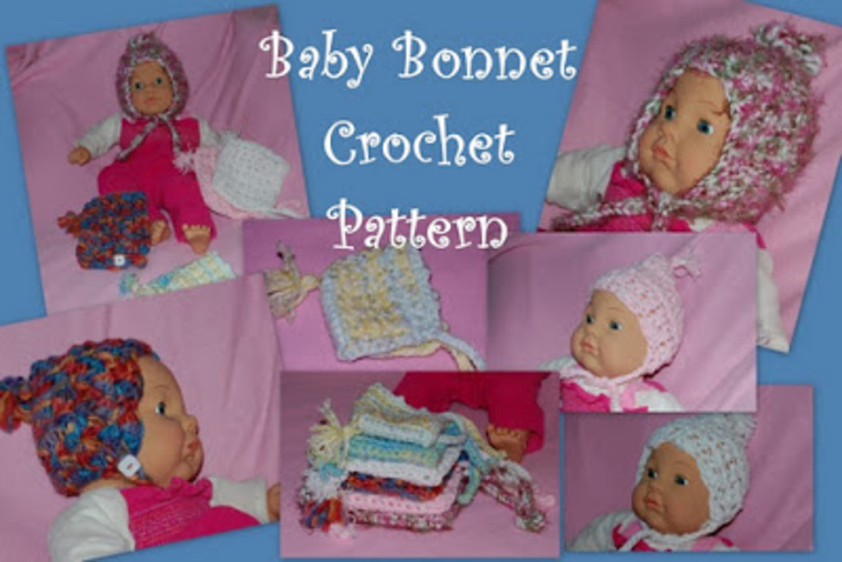 Posh Pooch Designs baby bonnet. Used with permission.