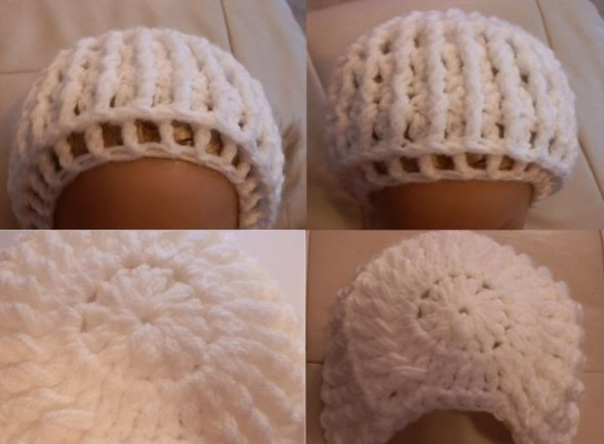 Basic bonnet; you can add and embellish as required.