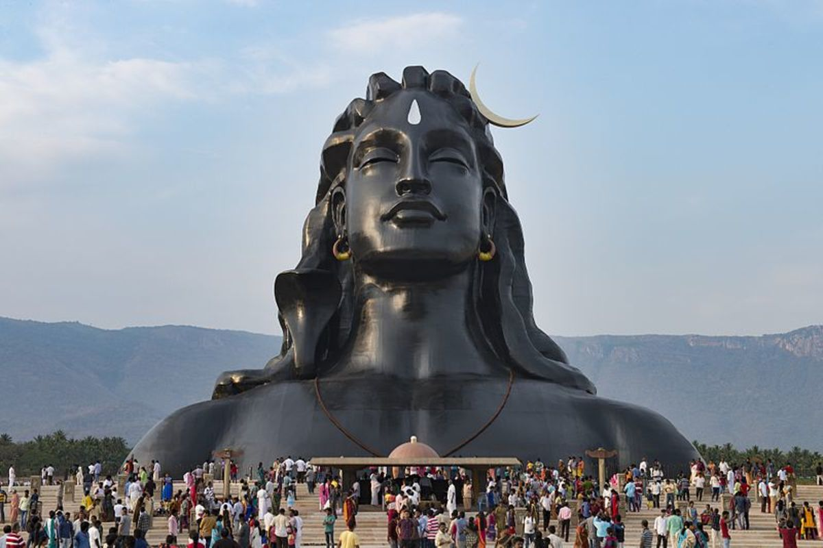 Depicting Lord Shiva as the first Yogi