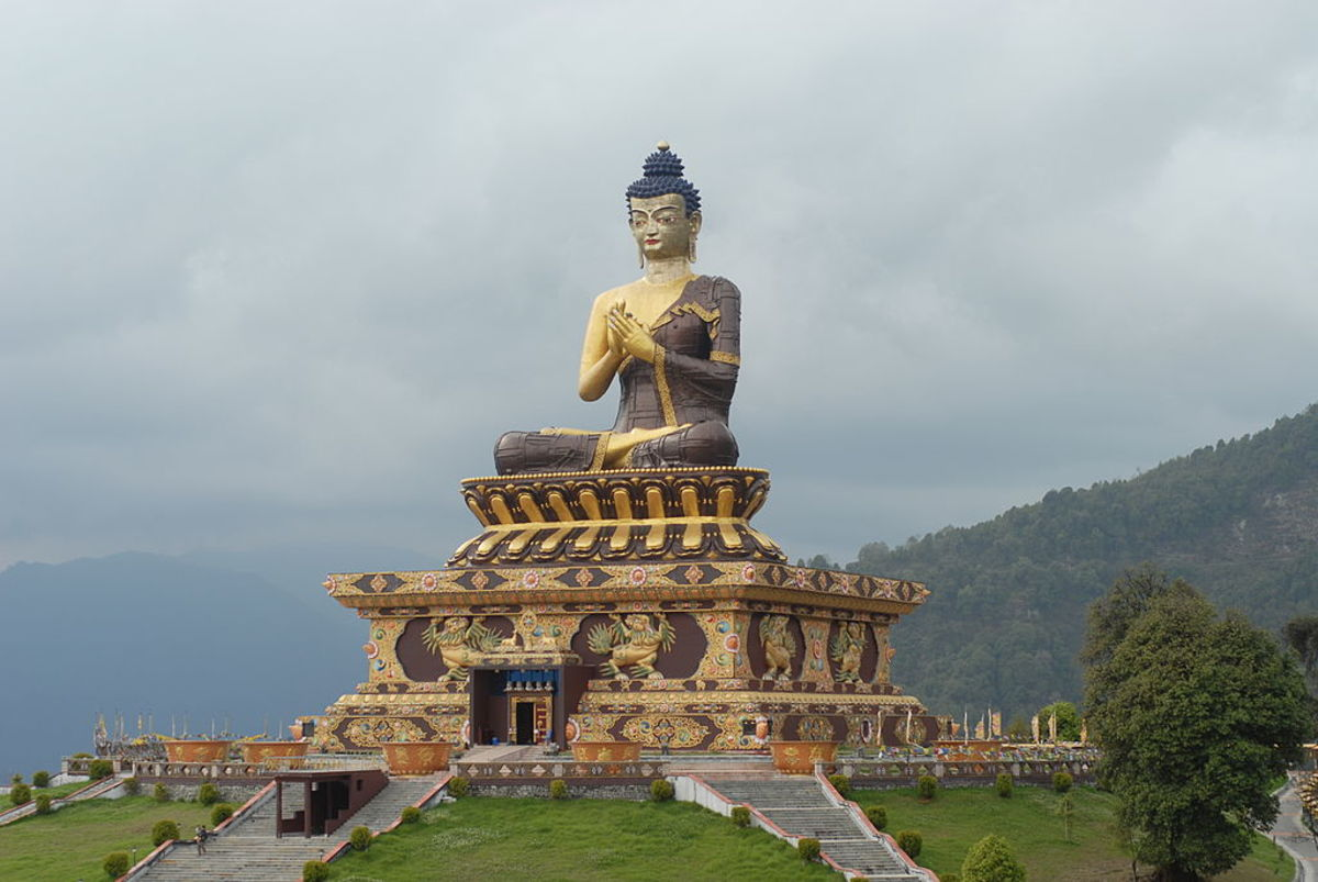 One of the tallest sitting statues of Gautam Buddha in the world