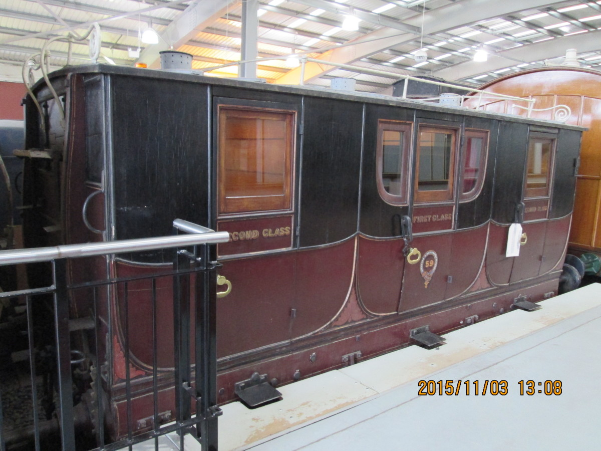 Back in the old days of the S&DR there were three types of passengert 'carriage'. This was first and second class enclosed, horse-drawn. There were third class 'boxes' (for want of a better description) on wheels with wooden bench seats, no windows.