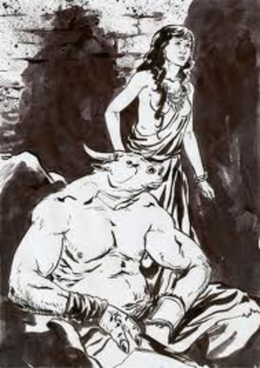 Theseus and Minotauros