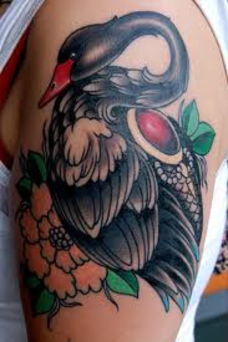 White And Black Swan Tattoos And History-Swan Tattoo Meanings-Swan Tattoo Designs And Ideas