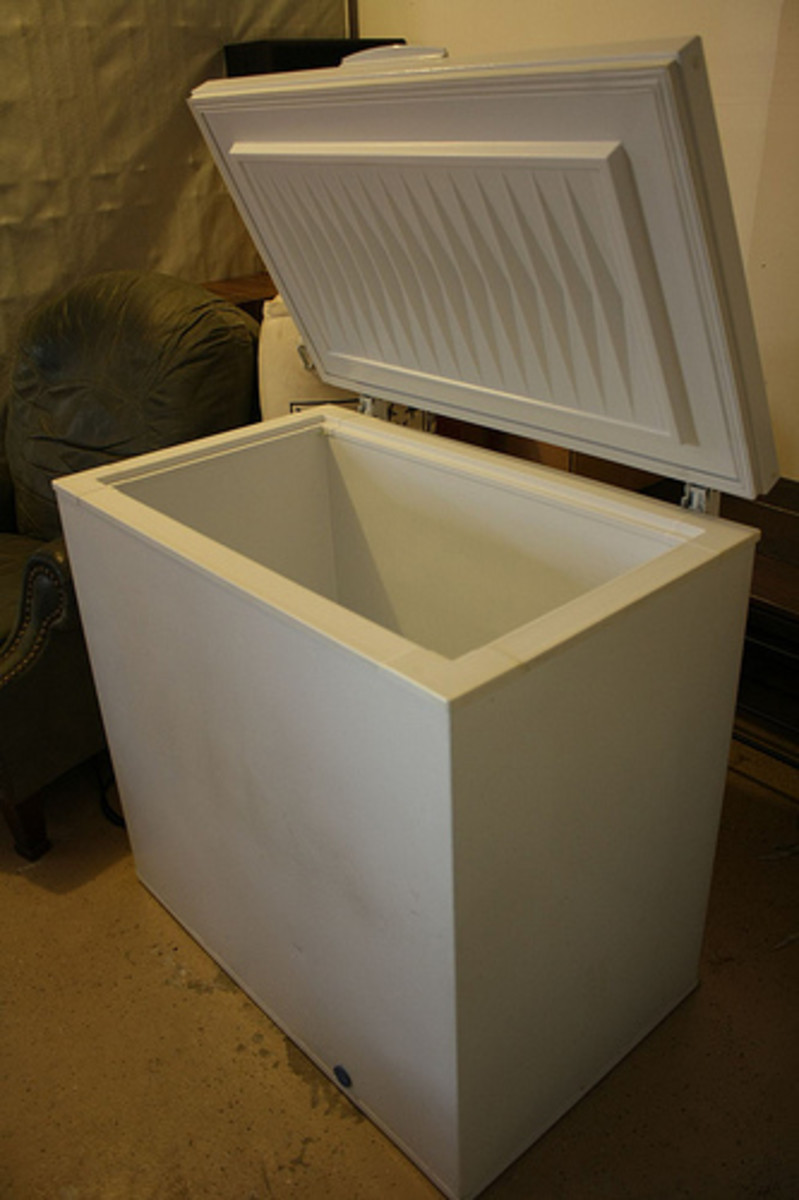 A typical chest freezer is more efficient than an upright model