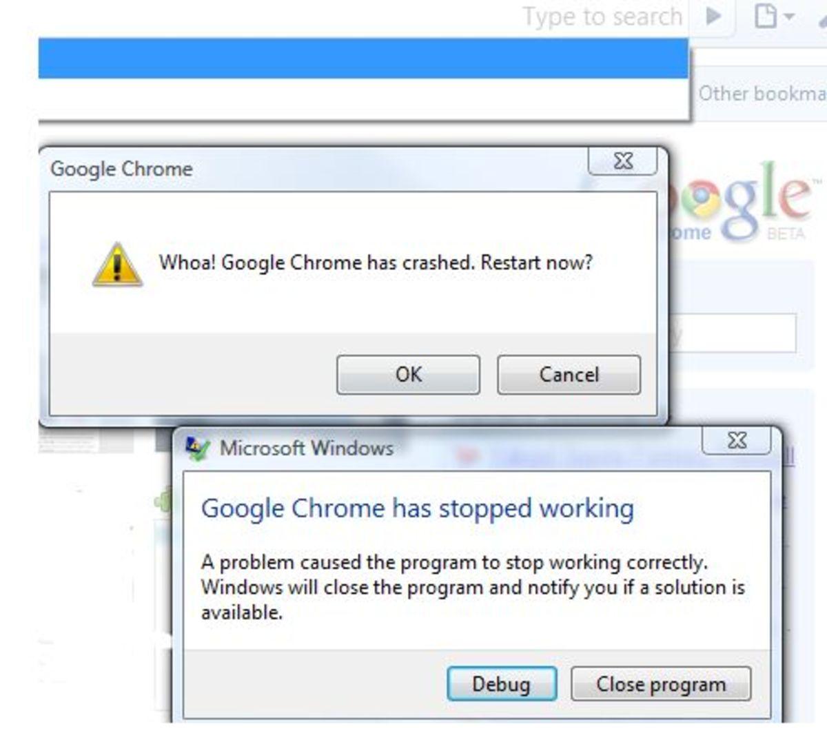 Google Chrome Crash