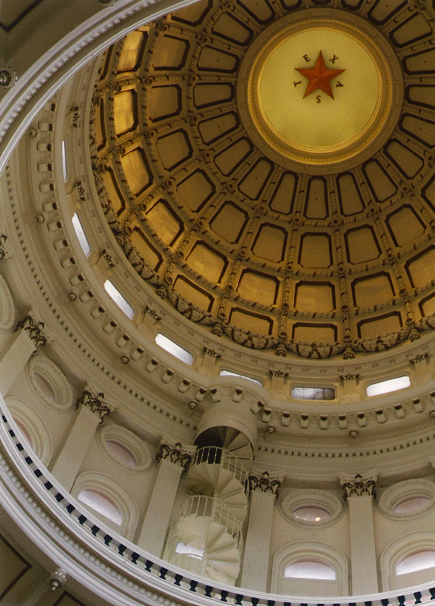 The Texas Capitol rotunda towers higher than any other state capitol.