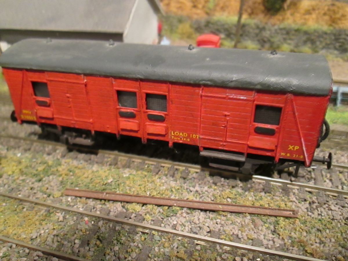 Another Parkside kit, another ex-Southern Railway (orig SECR) vehicle in BR 1948 livery