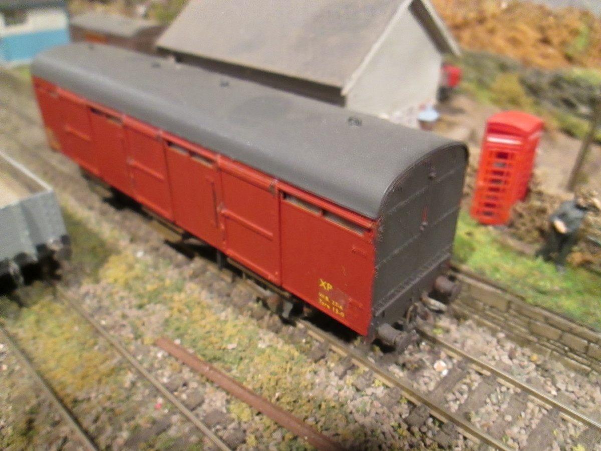One of the two ex-LNER CCTs on the Thoraldby layout - another Parkside kit