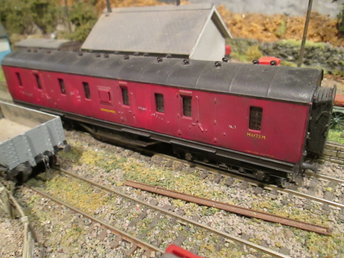 Mainline ex-LMS bogie corridor parcels or newspaper van
