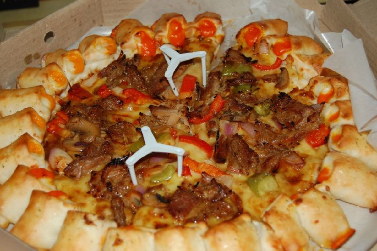 Pizza Hut's Cheesy Pops (barbeque)