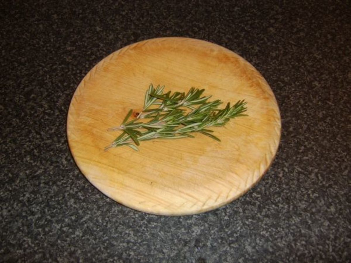Sprigs of fresh rosemary for beef stock