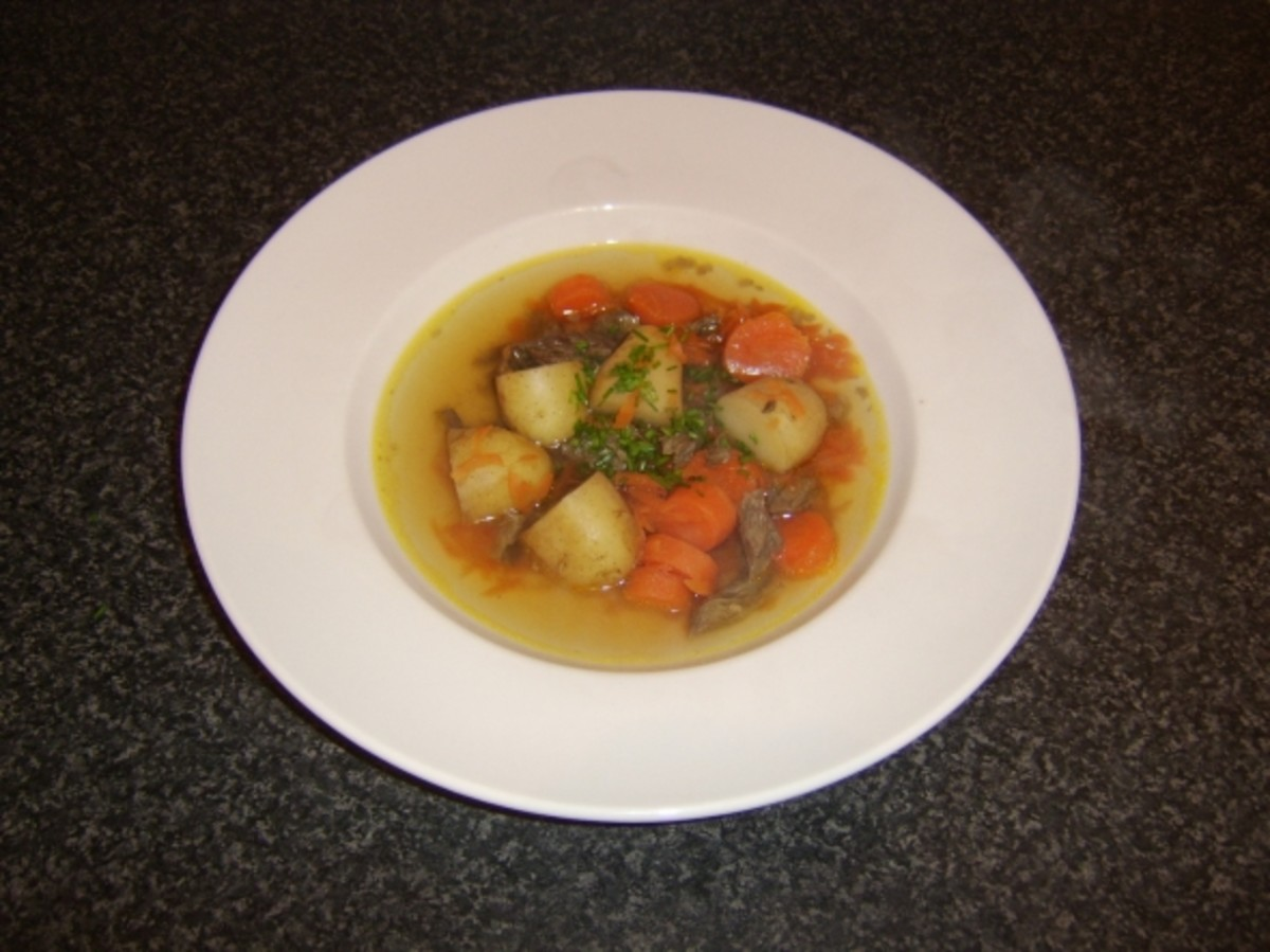Beef and root vegetable soup